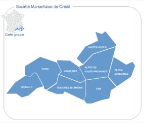 Agences de la Banque Société Marseillaise de Crédit - www.smc.fr